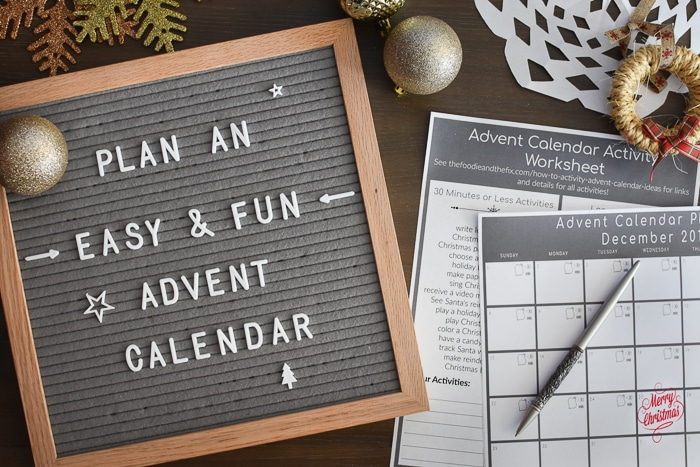 Planning an activity Advent calendar is quick and easy with my printables and How-To guide! Post includes tons of super fun Advent calendar activity ideas! #christmas #advent #adventcalendar #adventcalendaractivites #kids #parenting #holiday #qualitytime #plan #planner #printable #printables