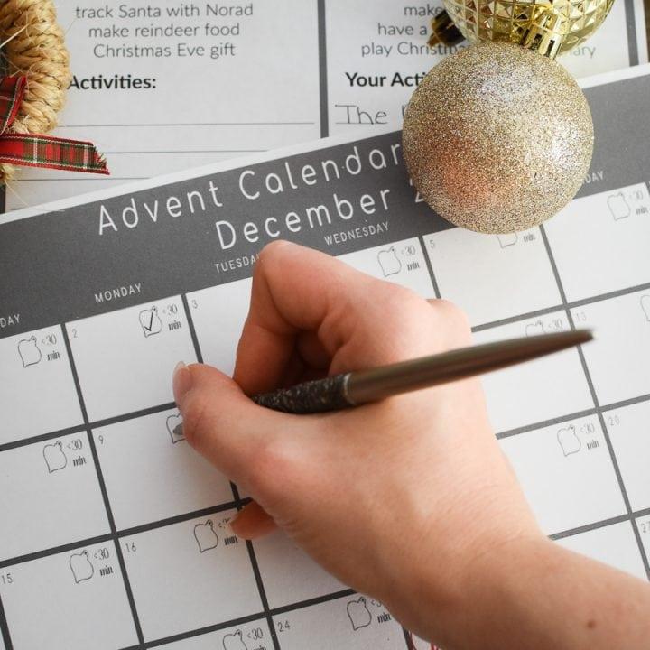 How to Plan an Activity Advent Calendar