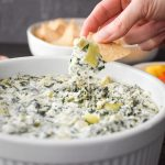 Quick Spinach and Artichoke Dip {Instant Pot | Microwave}