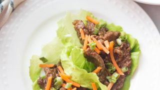 Instant Pot Asian Steak Lettuce Wraps | 21 Day Fix Asian Steak Lettuce Wraps