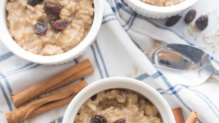 Healthy Instant Pot Brown Rice Pudding | 21 Day Fix Brown Rice Pudding [Gluten-Free, Dairy-Free, Vegan Option]