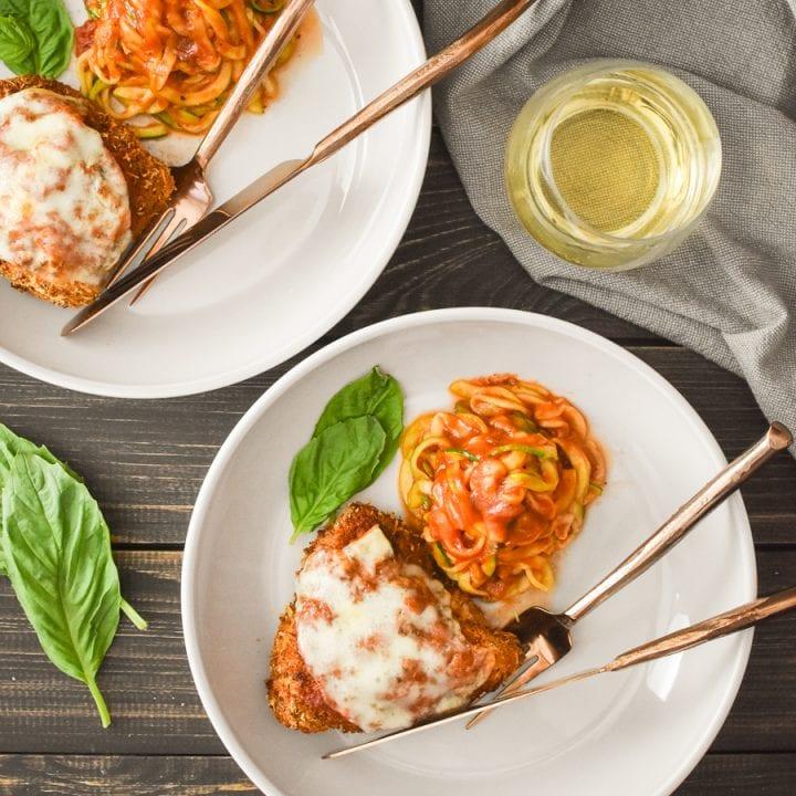 Healthy Chicken Parmesan {Air Fryer | Oven}