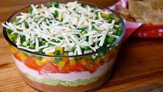 Healthier Seven-Layer Dip Recipe | 136 Calories