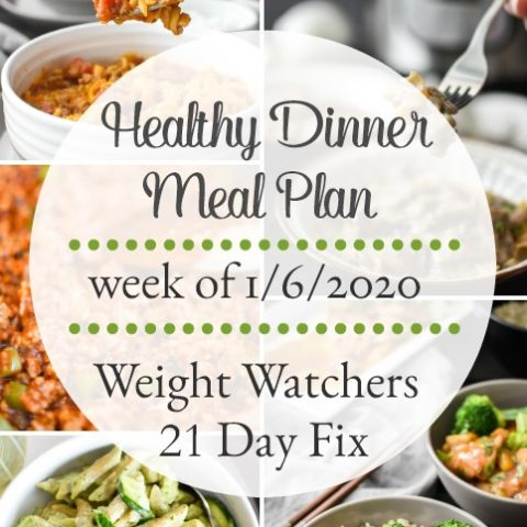 Dinner Meal Plan Week of 1/6/2020 Grocery List