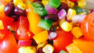 Roasted Corn and Black Bean Salad {21 Day Fix}