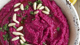 Roasted Beet Hummus - Eat Yourself Skinny