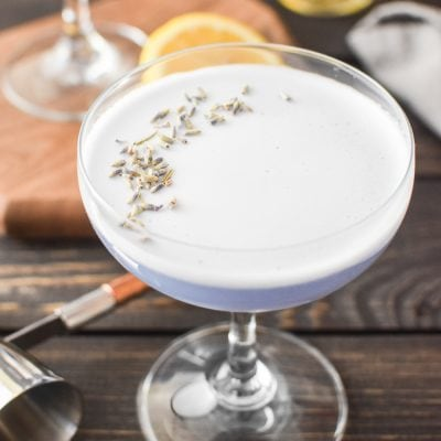 Lavender Gin Sour Cocktail Recipe