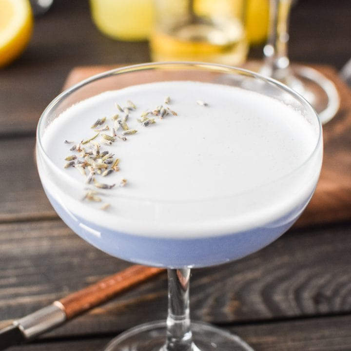 Lavender Gin Sour Cocktail