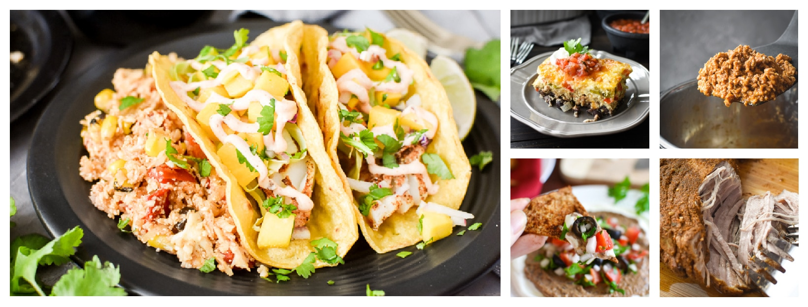 collage of meals that are seasoned with smokey southwest seasoning