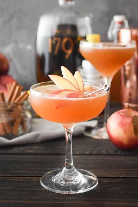 Cocktail with Apple Garnish