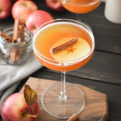 Autumn Apple Bourbon Cocktail
