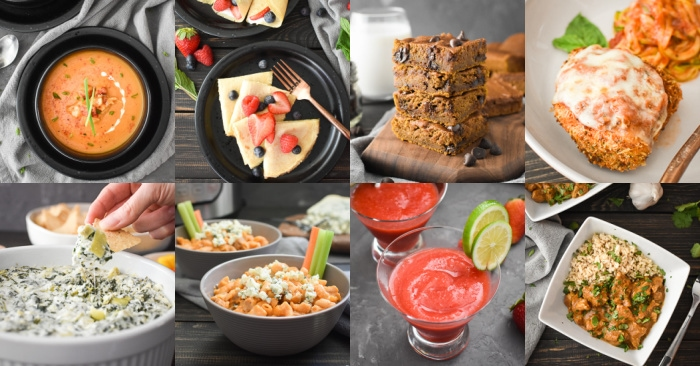 Photos of 8 different 21 Day Fix Meals