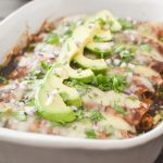 The BEST Healthy Chicken Enchiladas