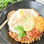 Cauliflower Fiesta Rice Breakfast Bowl {Healthy Breakfast Meal Prep}