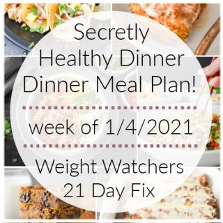 This secretly healthy dinner meal plan includes 5 easy, delish meals (and a printable grocery list!) that'll have you looking forward to dinner every night! Plus meal prepping ideas for breakfast, lunch and dessert! 21 Day Fix | Weight Watchers #mealplan #mealplanning #mealprep #healthy #healthydinners #21dayfix #portioncontrol #portionfix #weightwatchers #ww #grocerylist #healthymealplan #instantpot #ultimateportionfix #weightloss #beachbody