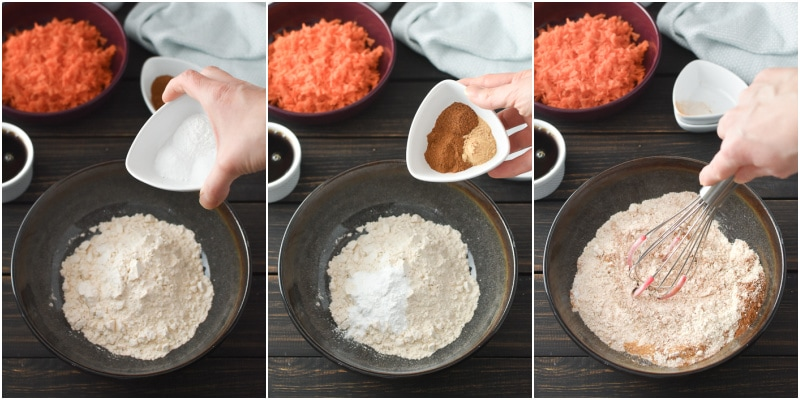 21 Day Fix Carrot Cake How-To Collage