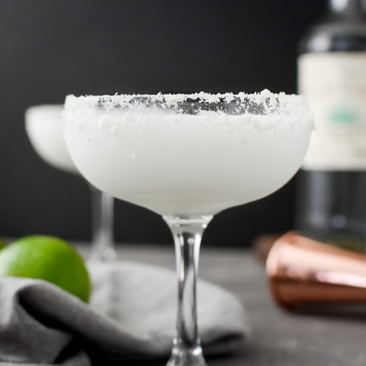 Coconut-Lime Margarita in a coupe