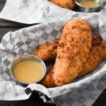 Crispy Chicken Tenders with Honey Mustard Sauce {Air Fryer | Oven}